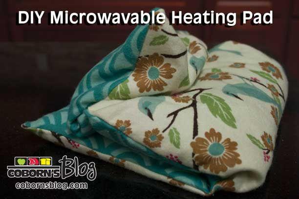 DIY Microwavable Heating Pad www.cobornsblog.com
