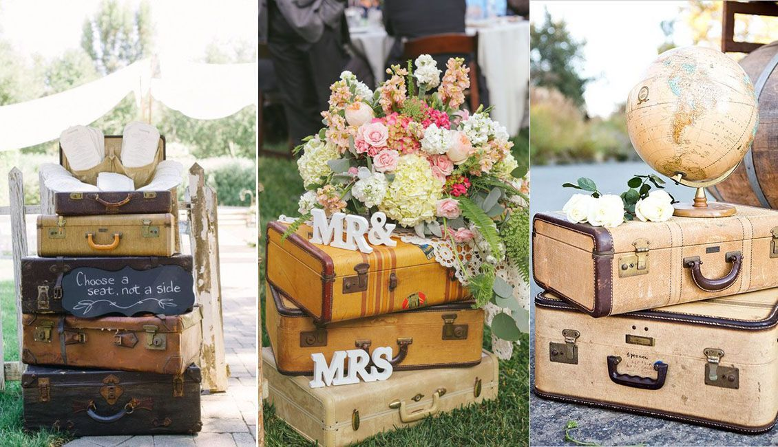 Top 20 Vintage Suitcase Wedding Decor Ideas #vintagesuitcasewedding Top 20 Vintage Suitcase Wedding Decor Ideas | Roses & Rings #vintagesuitcasewedding