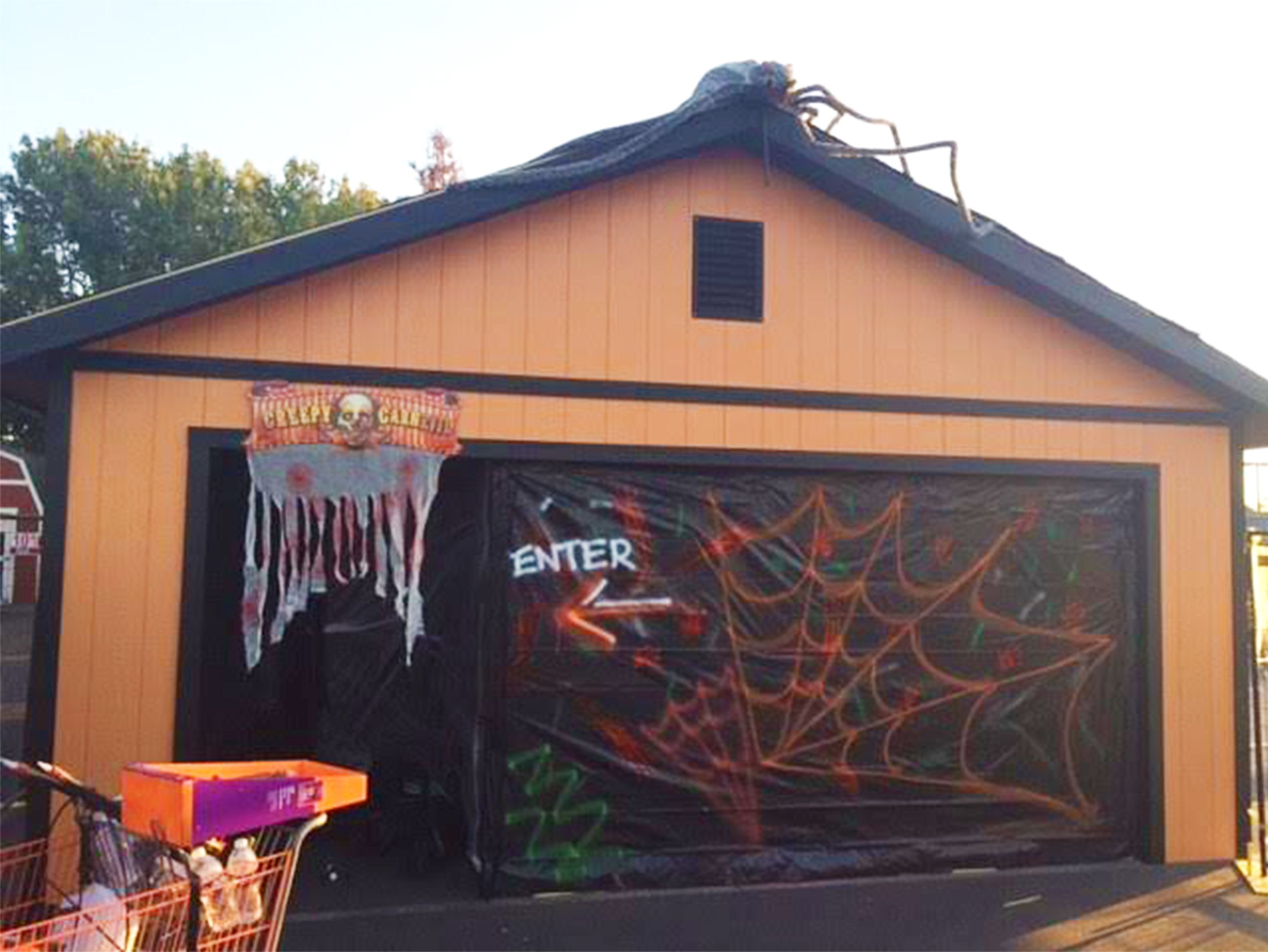 Uncategorized Garage Haunted House looking for halloween decorations make your tuff shed garage into a haunted house