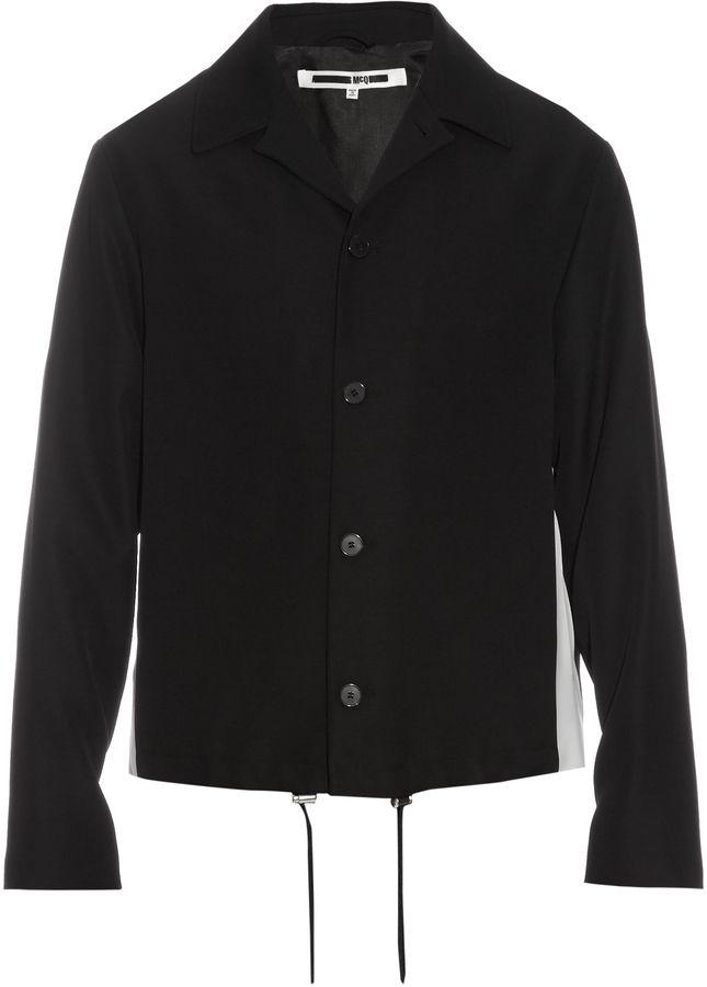 MCQ ALEXANDER MCQUEEN Peak-lapel wool harrington jacket  e208c60e31f