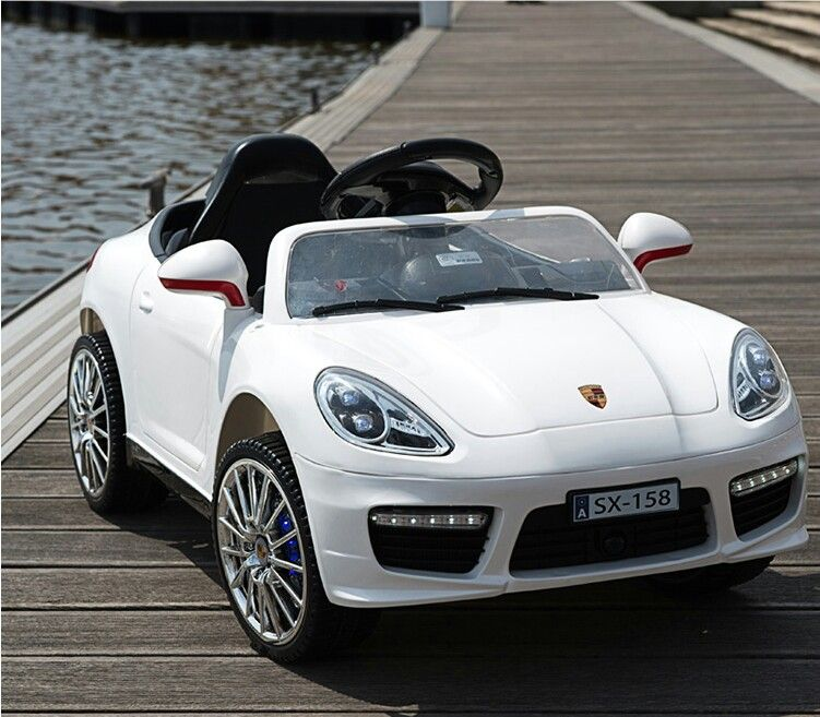 Porsche Kids Electric Car White Porsche Electric Kids Ride On