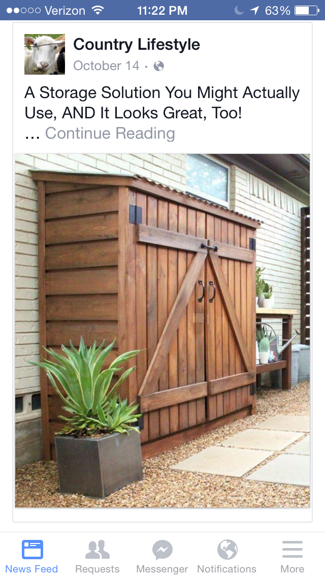 Pin By Becky Henson On Ideas For The House Storage Shed Kits Shed Storage Backyard