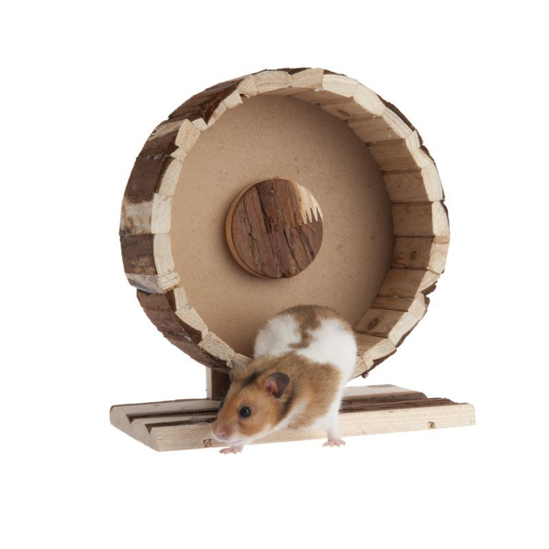 Wooden Exercise Wheel Speedy Hamster Toys Exercise Wheel