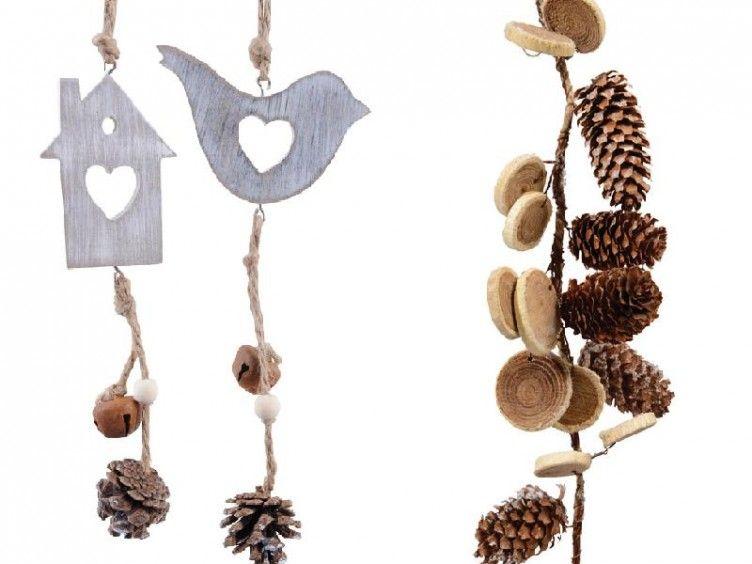 Navidad inspirada en la naturaleza con originales adornos for Manualidades para casa rustica