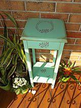 Nábytok - Stolík vysoký - Belle Rose MINT - 6519900_
