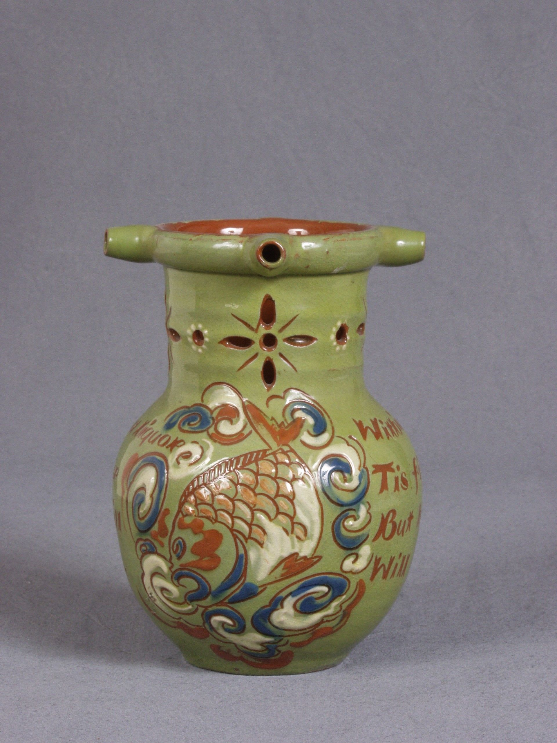 puzzle jug - Ch. Brannam - Barnstaple Museum