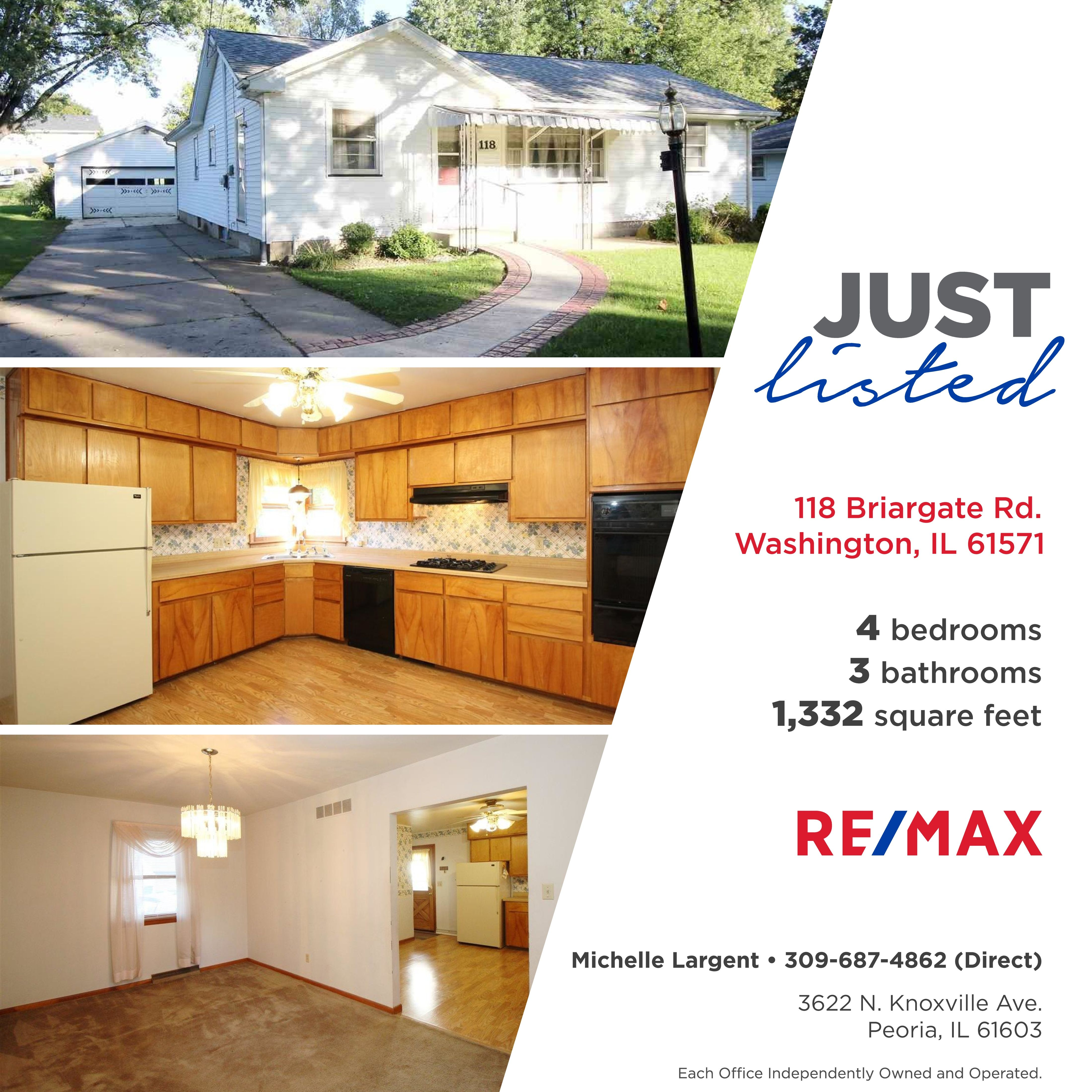 Just Listed 109 900 118 Briargate Rd Washington Il Great