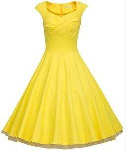 Yellow Vintage Dress Yellow Vintage Dress Vintage Dresses Retro Dress 50s