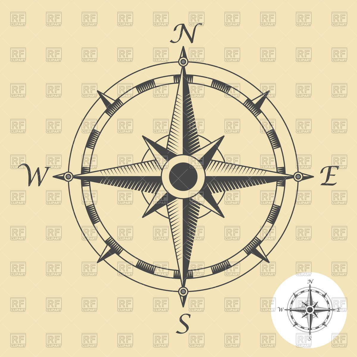 Compass rose, download royaltyfree vector clipart (EPS