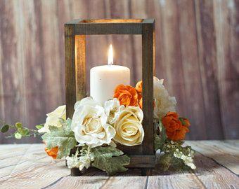 Rustic Wood Candle Lantern, wedding lantern, rustic lantern, 5th ...