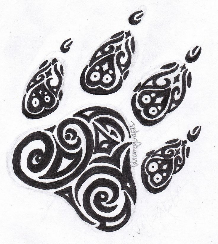 Small Tribal Tiger Paw Tattoo Henna Designs Pinterest Tatuirovki Tatuirovki S Volkom Cvety