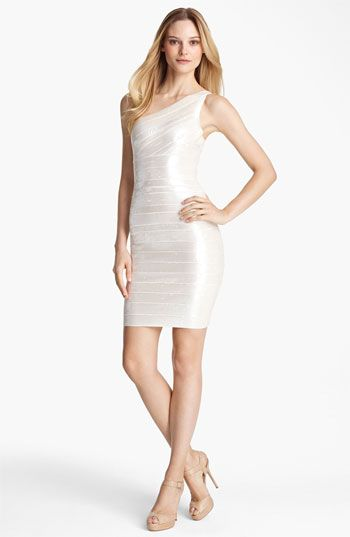 bbb304b8a010 Herve Leger One Shoulder Sequin Bandage Dress available at #Nordstrom