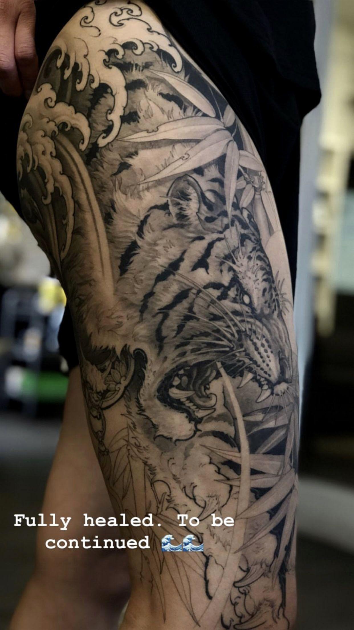 Japan Tiger Tattoo Designs Luxury Tattoos Tiger Japanese Tattoodesigns In 2020 Tiger Tattoo Sleeve Tiger Tattoo Design Sleeve Tattoos