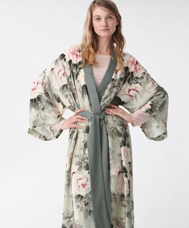 5bc5b8693 Japanese flower dressing gown - House Robe - SLEEP