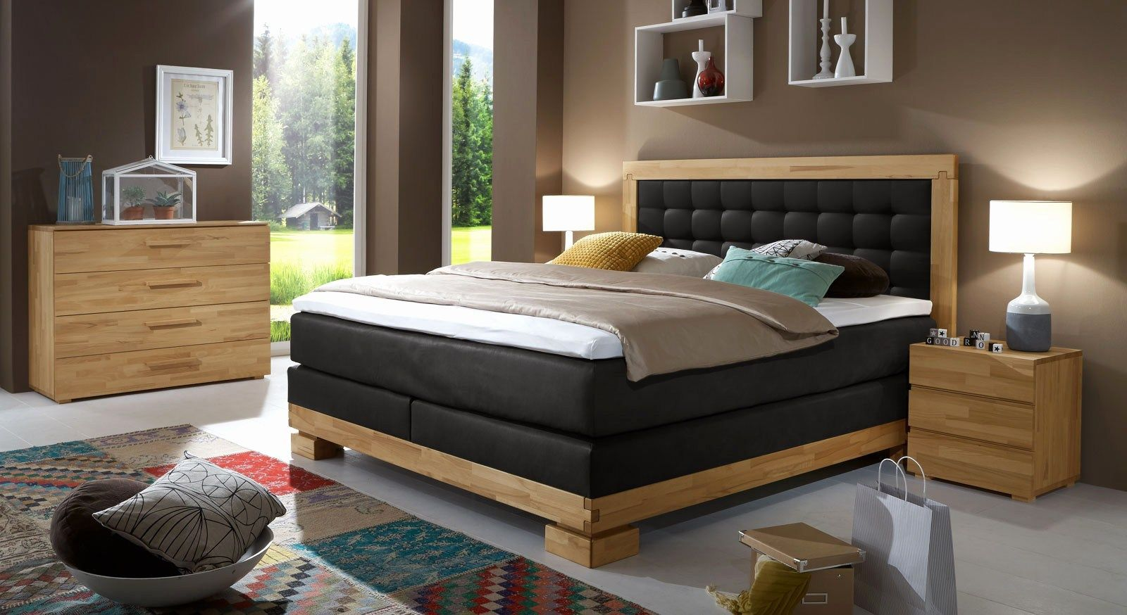 Schlafzimmer Mit Boxspringbett Einrichten | Komplettes ...