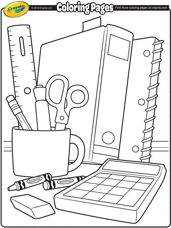 Back To School Coloring Page With Images School Coloring Pages