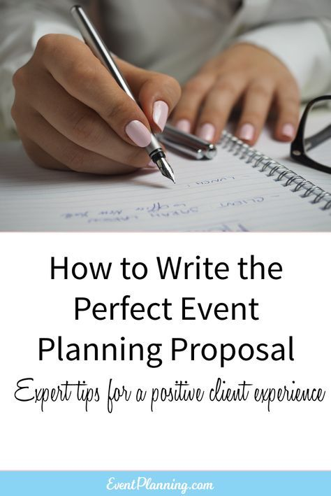 How to Write an Event Planning Proposal | Pinterest
