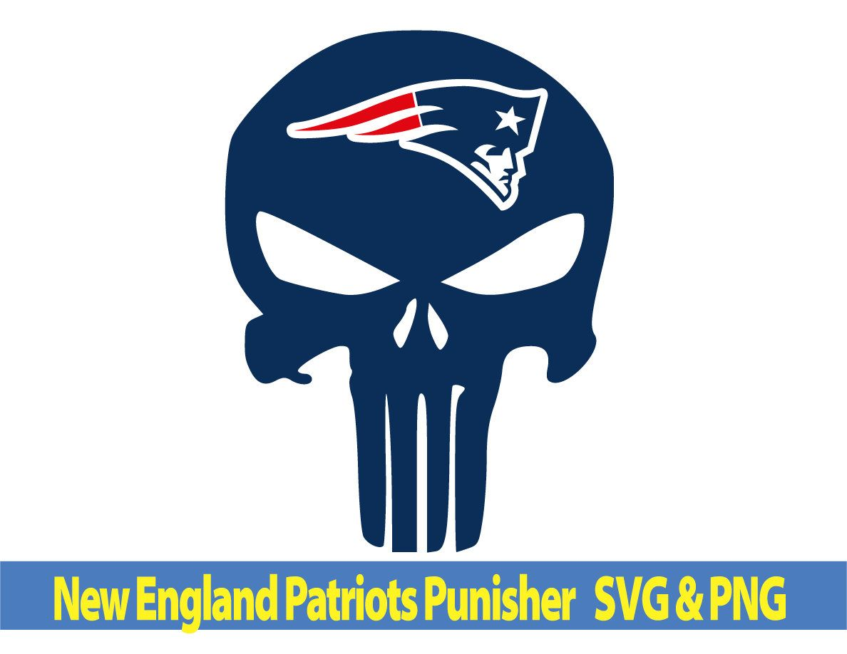 New England Patriots Punisher Svg New England Patriots Svg New England Patriots Svg File Punis Punisher New England Patriots Silhouette Studio Designer Edition