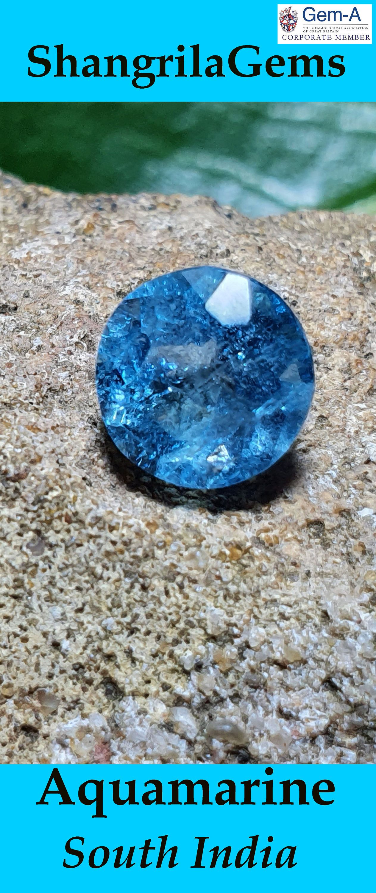 43mm Larimar cushion oblong cabochon 66ct 43 by 30 by 4.5mm