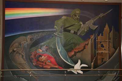 Unexplained confidential denver international airport for Denver airport mural conspiracy