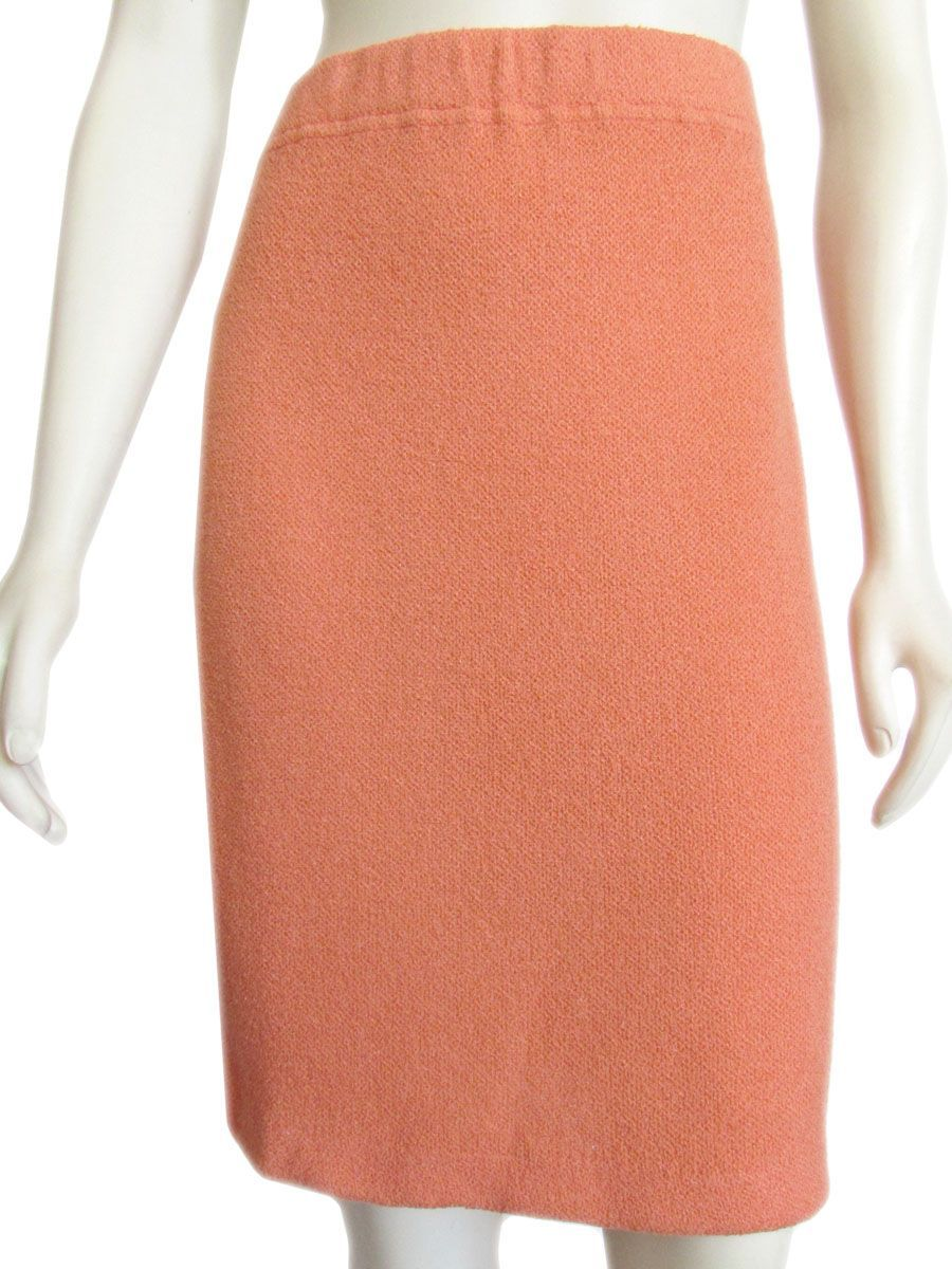 8953a5960a St. John Collection by Marie Gray Tangerine Boucle Pencil Skirt | St ...