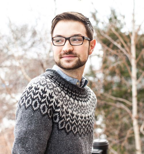 Jared Flood - not just a great designer of knitwear and yarns, but an adorable one.