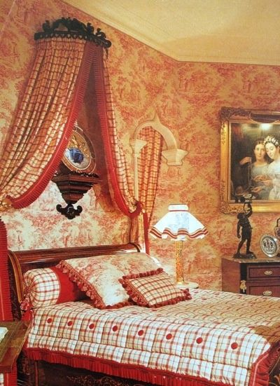 Decorating With Toile | Red Toile Bedroom | Decorate Your Home With Love