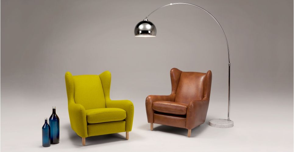 Sedie Reclinabili ~ Rubens wing back armchair kelp green wool mix verde poltrone e