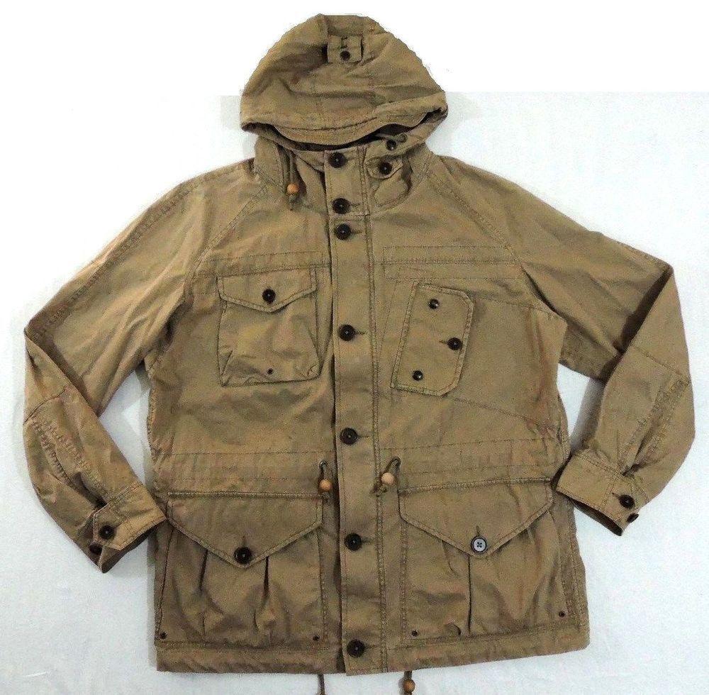 $395 Polo Ralph Lauren Hunting Military Army Cargo Hooded Upland Safari Jacket S #PoloRalphLauren #BasicJacket