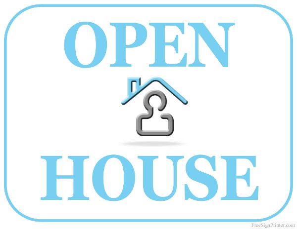 Printable Open House Sign E 2013 Pinterest Open house signs - house for sale sign template