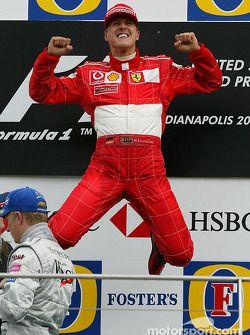 Race Winner Michael Schumacher Celebrates With Images Michael