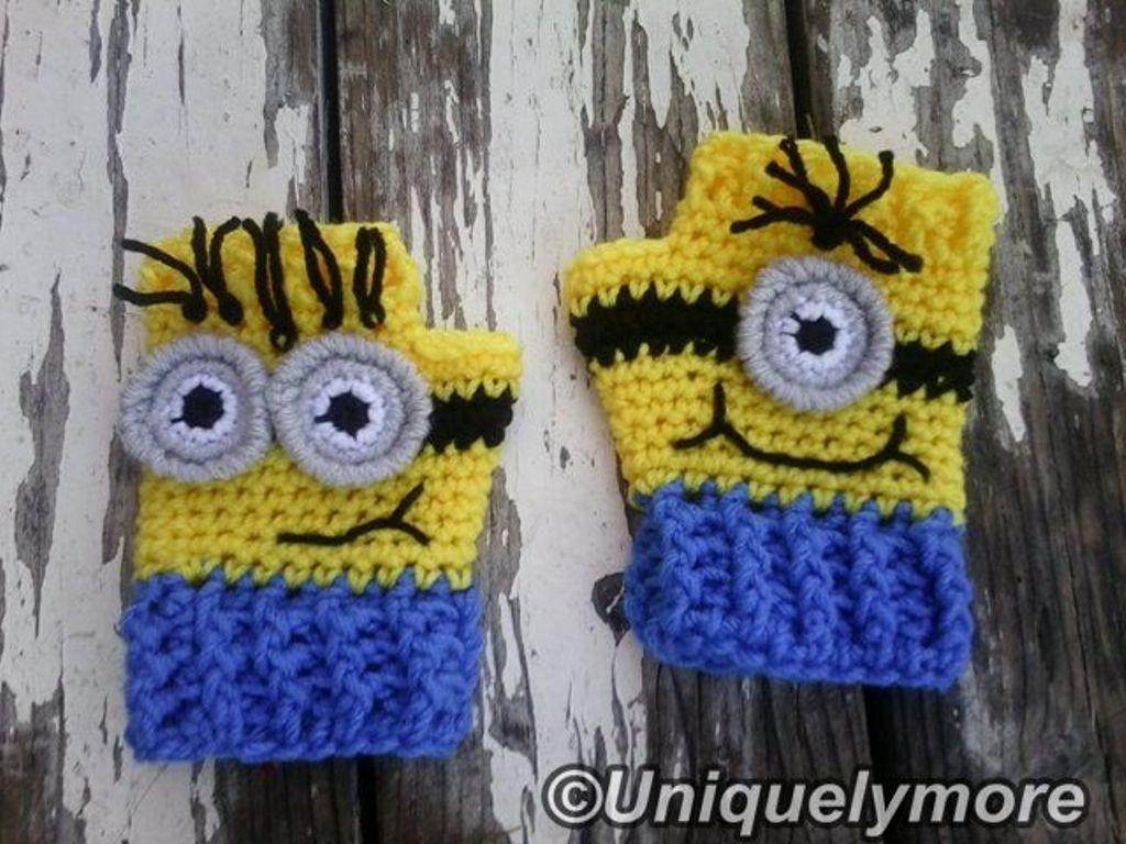 Fingerless gloves eso - Crocheting Minion Fingerless Gloves 3 50