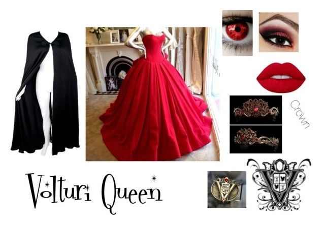 volturi by ethan-s-queen on Polyvore featuring polyvore fashion style Valentino Lime Crime clothing