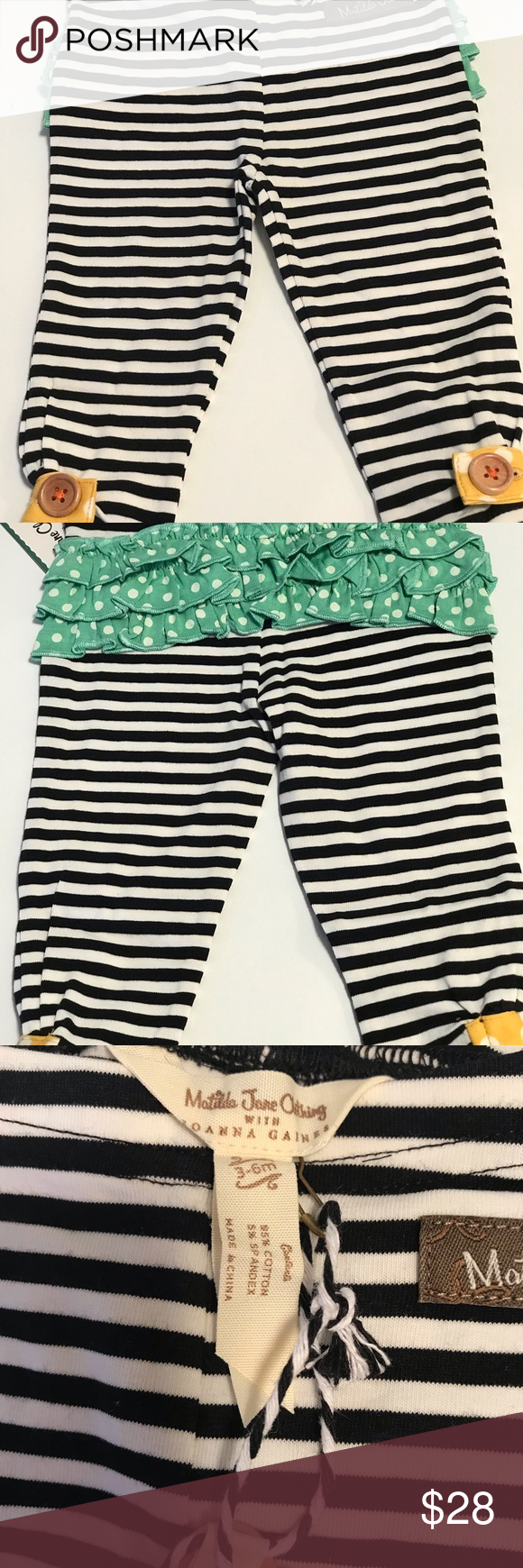 a5258c78ce9d7 Matilda Jane duckling leggings New with tags. Matilda Jane duckling leggings.  Teal & black. 95% cotton 5% spandex Matilda Jane Bottoms Leggings