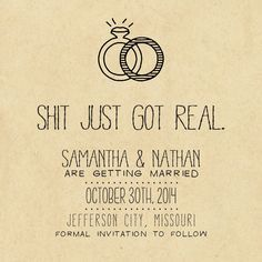 Would so be my next invites invitationannouncements beccas save the date if she changes her mind save the date card printable diy wedding rustic custom kraft paper wedding design solutioingenieria Gallery