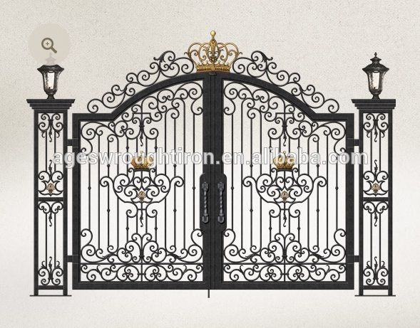 Iron Pipe Wrought Iron Gate Design Photo, Detailed about
