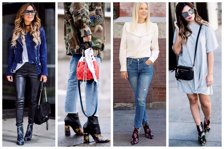 76dfd3b1210 Top Fashion trend: Floral Μποτάκια με Κεντήματα! Συνδυάσέ τα: 🌺 Με  δερμάτινο παντελόνι