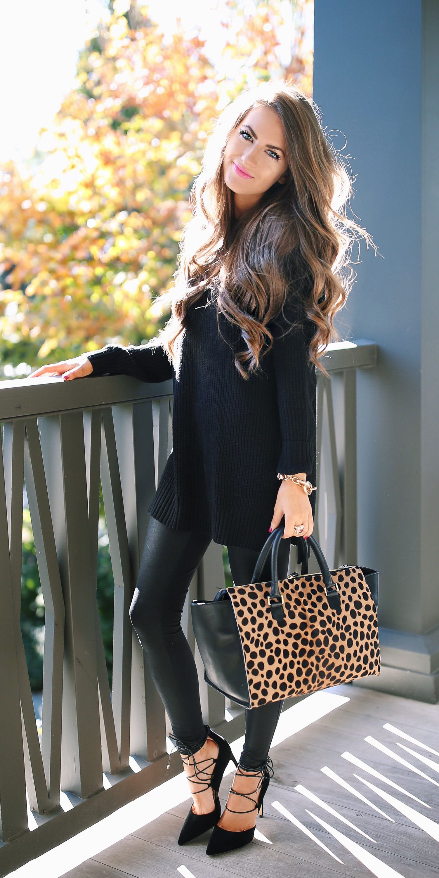 leggings outfit Leather