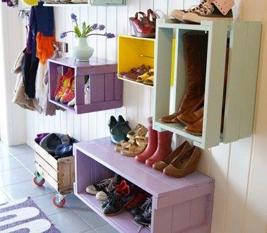 Idée rangement chaussures dans entrée de la maison | Room
