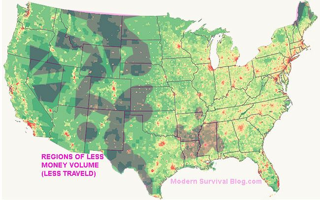 united-states-map-regions-least-traveled | Maps | Pinterest