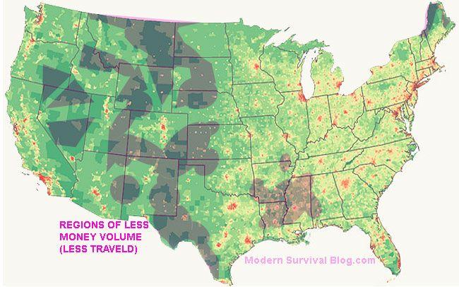 Unitedstatesmapregionsleasttraveled Maps Pinterest - Us map in regions