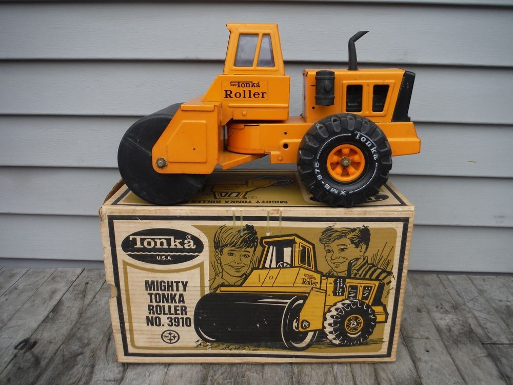 Mighty Vintage Vintage Mighty Tonka No. 3910 Steam Roller Toy Pressed
