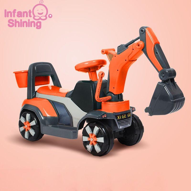 Infant Shining Baby Ride On Car Children Excavator Toy Kids