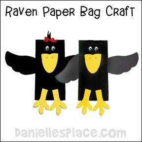 Raven Paper Bag Puppet From Www Daniellesplace Com From