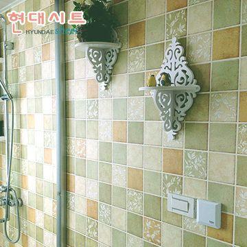 Korean Self Adhesive Wallpaper Kitchen Bathroom Toilet Water Green Home Improvement Mosaic Tile Wal Kitchen Wall Stickers Mosaic Tile Stickers Bathroom Toilets