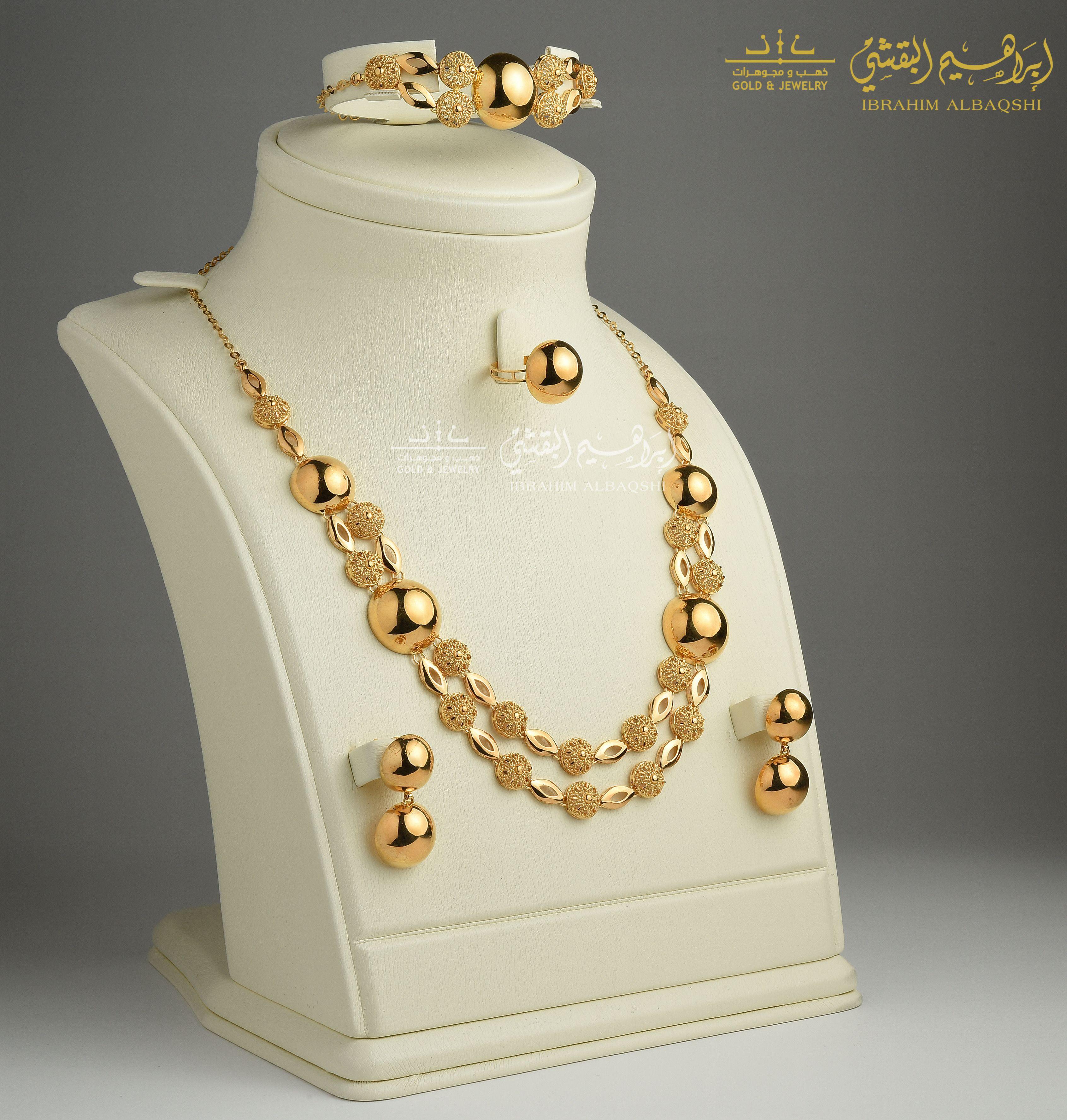 طقم ذهب صافي عيار ٢١ Jewelry Gold Gold Necklace