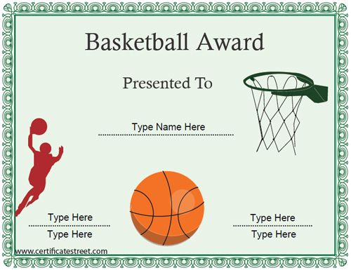 An ideal certificate to offer to participants of a basketball game an ideal certificate to offer to participants of a basketball game or event a basketball certificate can be gifted to extend your players efforts and yelopaper Images