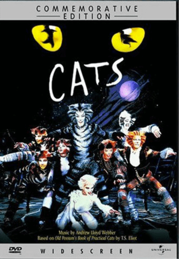 Cats The Musical Filmed Live On Stage Commemorative Edition Dvd Musical Movies Famous Musicals Musicals