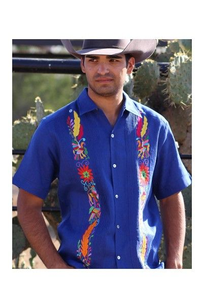 cfdb6e93cf Guayabera with Otomi Embroidery