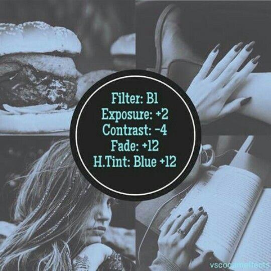 B1 Exposure -2 Contrast -4 Fade +12 Highlights Blue +12